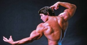 See Arnold's son showing muscles