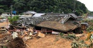 Almost 40 feared dead under the heavy rain in Japan