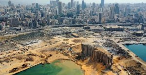 Explosion in Beirut has left 43-meter-deep crater