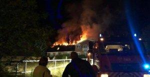 Violent fire in the farm