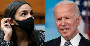 AOC criticizes Biden Announcement of support for Israel as siding with'Job'