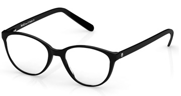 Açıklama: A pair of black eyeglassesDescription automatically generated with medium confidence